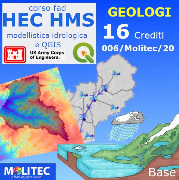 Modellistica Idrologica con HEC HMS e applicazioni di QGIS - 16 ore - Base