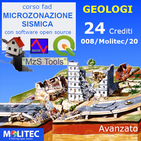 Microzonazione Sismica tramite software open source - Advanced - 24 ore