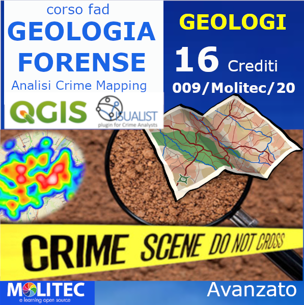 Geologia Forense ed Analisi Crime Mapping - Advanced - 16 ore
