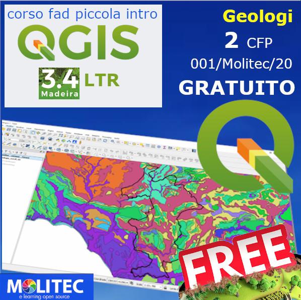 Modulo introduttivo gratuito di QGIS 3.0 per i Geologi d'Italia - 02 crediti