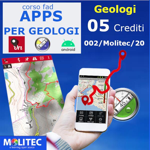Apps per la professione del Geologo, Gps Orux maps, Bussola e clinometro - 5 crediti